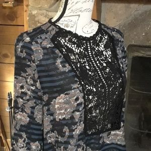 Vintage America lace front top